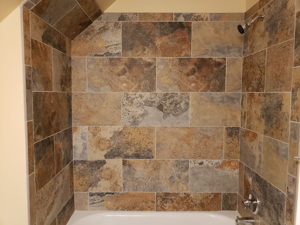 AFTER: Tile Shower