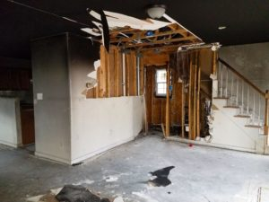 Fire Damaged: Livingroom (Half-Bath & Stairs)