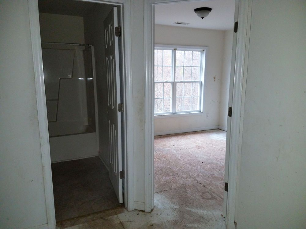 BEFORE: Upper Hall to Bath & Bedroom #2